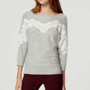 LOFT Dolman gray sweater